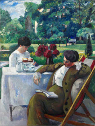 Aluminium print  Tea time at Villa Flora - Henri Manguin