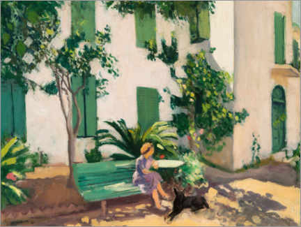 Foam board print  Rest in front of the house - Albert Marquet