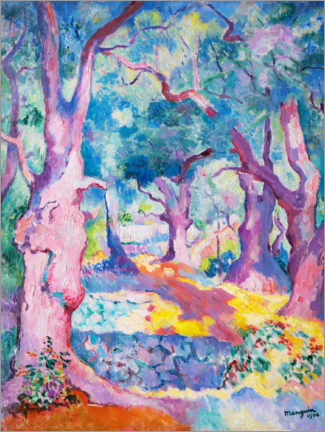 Wall sticker  Olive trees on the Cavalière - Henri Manguin
