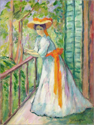 Gallery print  Woman on the balcony - Henri Manguin