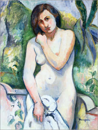 Acrylic print  Naked in L'Aloes, Jeanne - Henri Manguin
