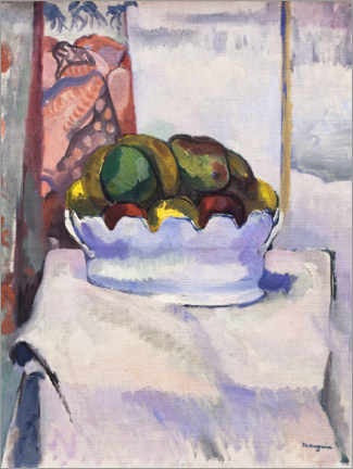 Canvas print  Fruits and mustard (earthenware) - Henri Manguin