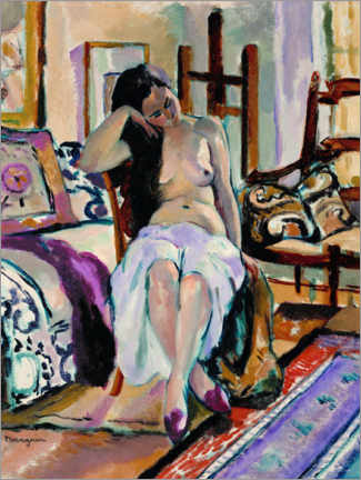 Premium poster  Nude in an interior - Henri Manguin