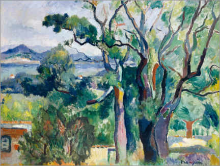 Wood print  Bay of Saint-Tropez - Henri Manguin