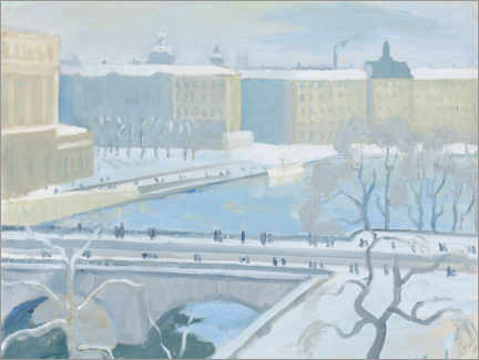 Acrylic print  Winter day in Norrbro - Hjalmar Grahn