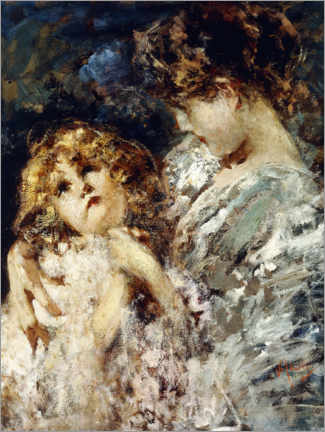 Foam board print  Mother and child - Vincenzo Irolli