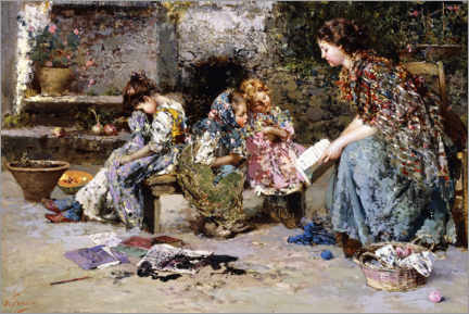 Acrylic print  The first lesson - Vincenzo Irolli