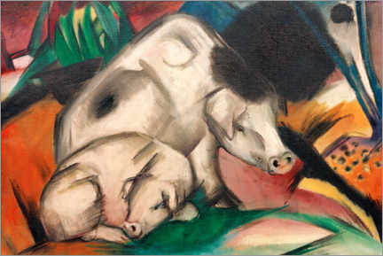Canvas print  Pigs (mother pig) - Franz Marc