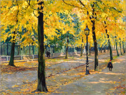 Wall sticker  Autumnal avenue - Louis Gustave Cambier