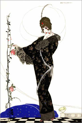 Gallery print  Woman in an embroidered velvet coat - Umberto Brunelleschi