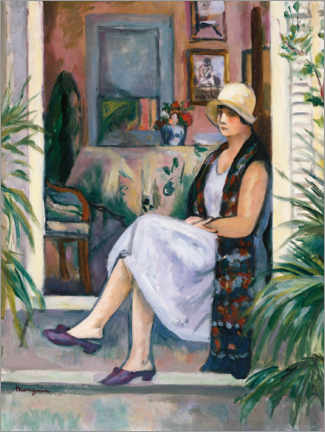 Wall sticker  Annette at the door - Henri Manguin