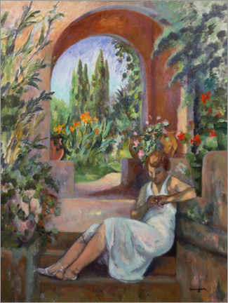 Wall sticker  Young woman in front of a round arch - Henri Manguin