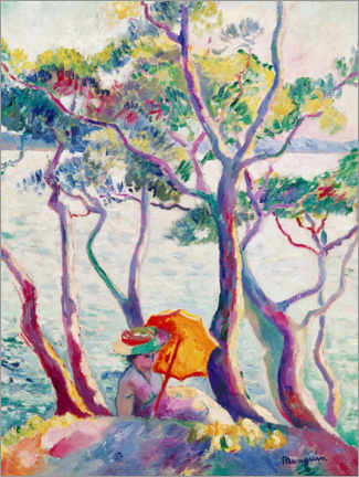 Premium poster  Woman with umbrella - Henri Manguin