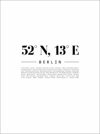 Canvas print  Coordinates - Berlin - Finlay and Noa