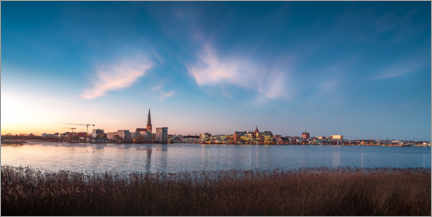 Acrylic print  Rostock skyline at dusk - Dirk Petersen