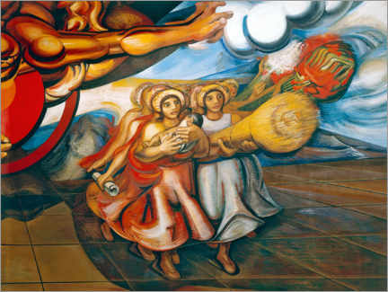 Gallery print  Mexican women with children - José Clemente Orozco