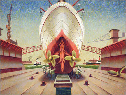 Gallery print  Ship in dry dock - Edward Wadsworth