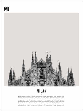 Canvas print  Attractions in Milan - Finlay and Noa