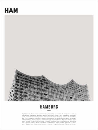 Premium poster  Attractions in Hamburg - Finlay and Noa