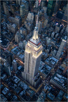 Premium poster  Empire State Building aerial view - Jan Christopher Becke