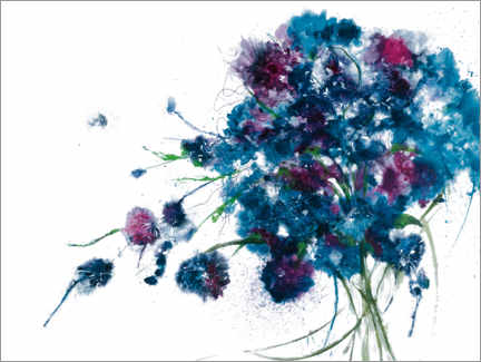 Aluminium print  Blue Bouquet - Jan Griggs