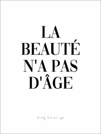 Premium poster Beauty knows no age (French)