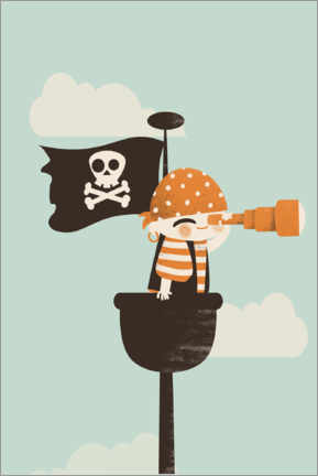 Canvas print  The pirate on lookout - Kanzilue