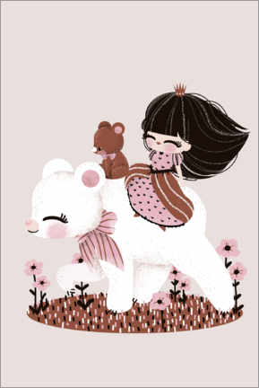 Premium poster The princess and the bear