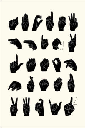 Canvas print  Sign language ABC - Emma Scarvey