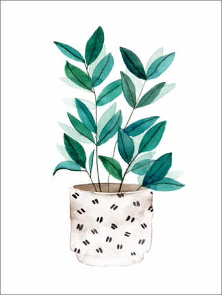 Premium poster  Delicate plant in a pot - Melissa Wang