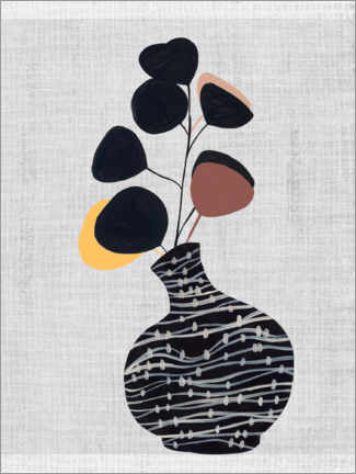 Canvas print  Mid century vase with branch - Melissa Wang