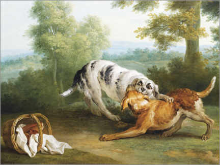 Gallery print  Dog and his Master's Dinner - Jean-Baptiste Oudry