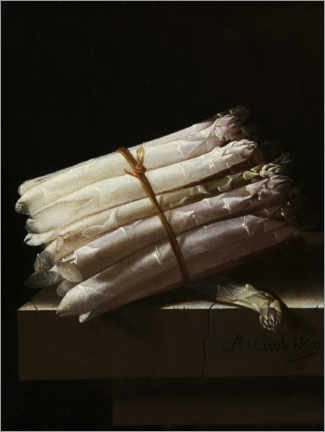 Premium poster  Still life with asparagus - Adrian Coorte
