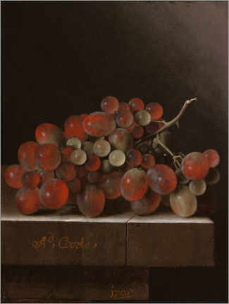 Canvas print  Grapes on a stone slab - Adrian Coorte