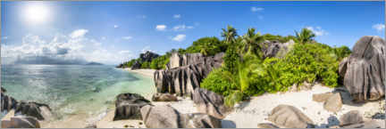 Premium poster La Digue in the Seychelles