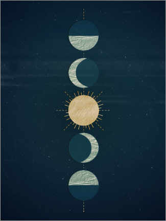 Premium poster Moon phases