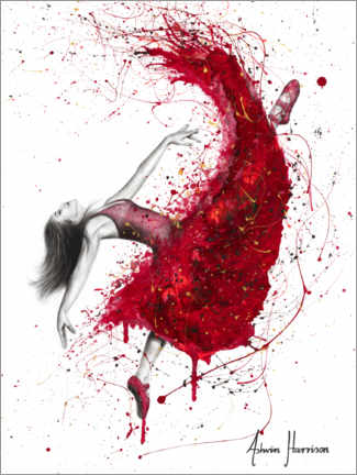 Premium poster Dance with red wine