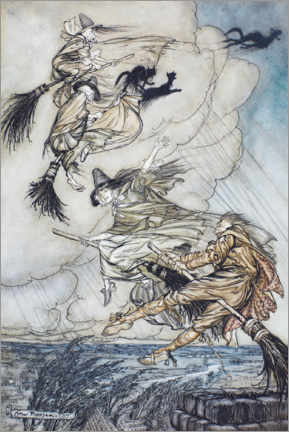 Premium poster  The flight - Arthur Rackham