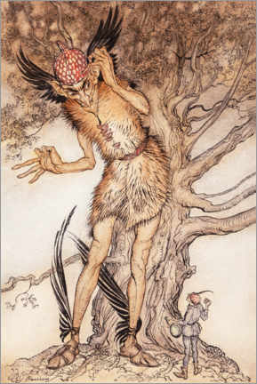 Foam board print  A terrible fellow - Arthur Rackham