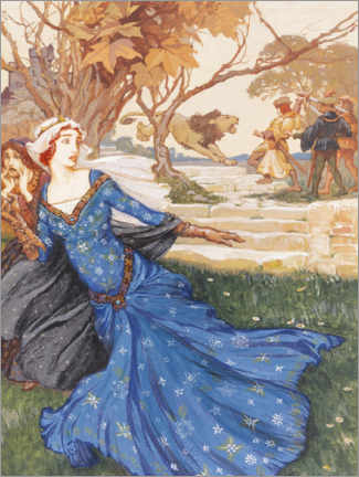Wall sticker  Guinevere rescue - Arthur Rackham