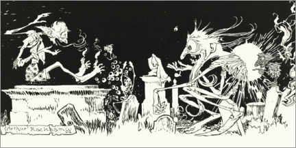 Foam board print  Ghosts and their strange ways - Arthur Rackham