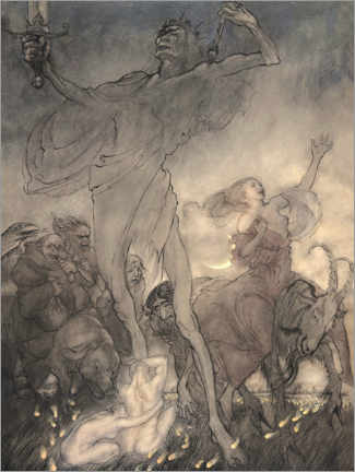 Canvas print  Illustration for Till Eulenspiegel - Arthur Rackham