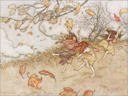 Premium poster  Illustration from Peter Pan - Arthur Rackham
