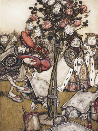 Canvas print  In the rose garden - Arthur Rackham