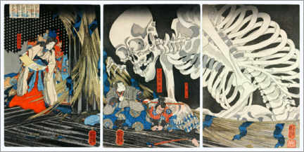 Wall sticker  Takiyasha the Witch and the Skeleton Spectre - Utagawa Kuniyoshi