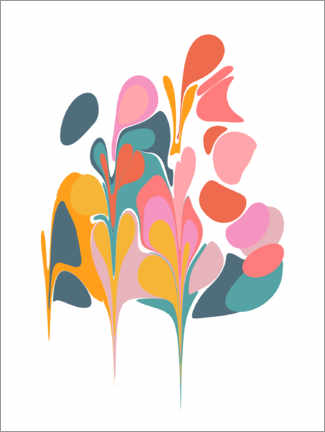Premium poster Abstract Floral Bouquet