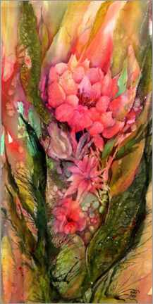 Canvas print  Exotic flowers and leaves - Sabina von Arx