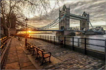 Premium poster  Tower Bridge Boulevard on the Thames - Dieter Meyrl