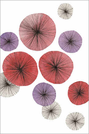 Wall sticker  Red flowers - SMUCK