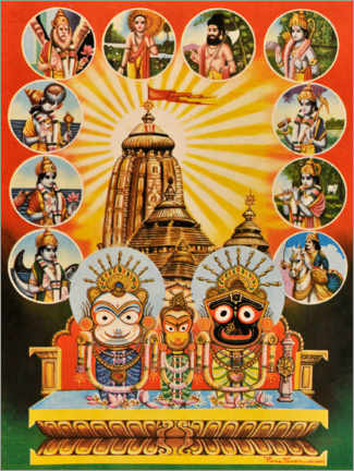 Canvas print  The temple of Jagannath - Indian School